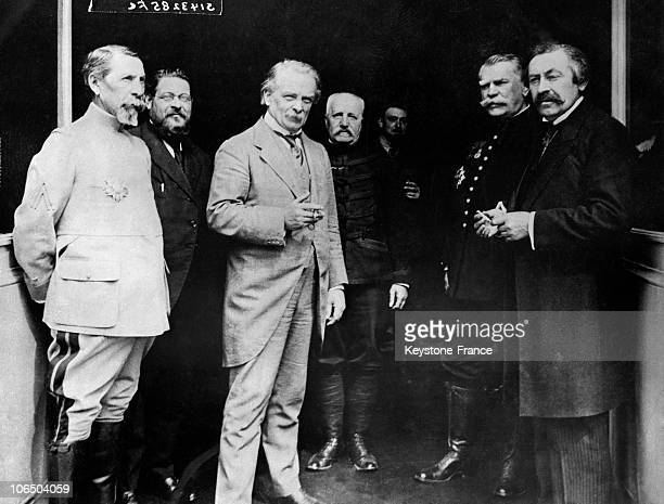 On June 9 The Representatives Of The French And British Armies From Left To Right French Prime Minister Aristide Briand General Joffre General De...