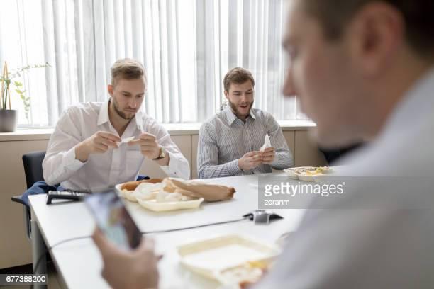 Op de lunchpauze