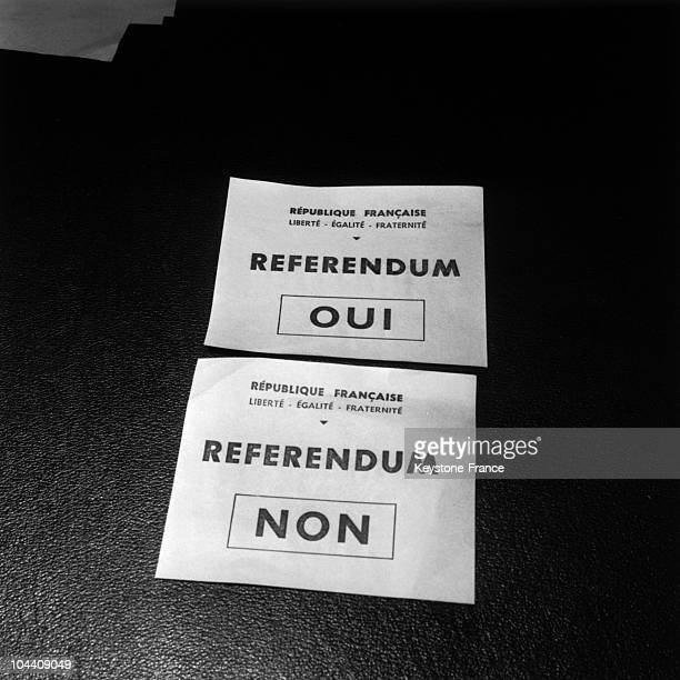 On March 26 the voting bulletins are ready for the April 8 referendum on the Evian Accords which will decide the question of Algeria's independence