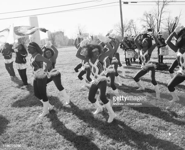 On Martin Luther King Day, bands march in a parade through the Greenwood neighborhood in February of 2016 in Tulsa, Oklahoma. By 1921, the Greenwood...