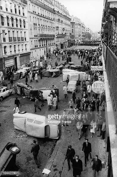 On May 11 Following The Riots Of The Night Before Police Forces Were Present In The Latin Quarter In Paris And At The Entrance To Rue GayLussac Where...
