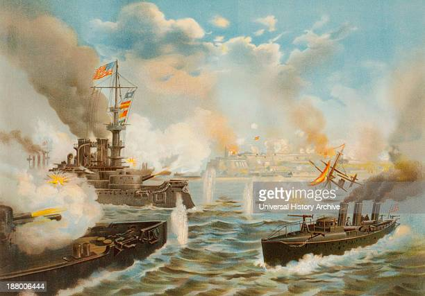 On May 12, 1898 During The Spanish-American War, U.S. Navy Warships Bombard San Juan, Puerto Rico.