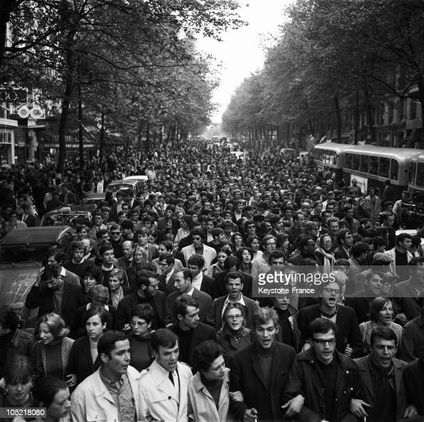 On May 17 Demonstrating Students In Paris Left From The Latin Quarter And Headed For BoulogneBillancourt In Order To Convince Workers From The...