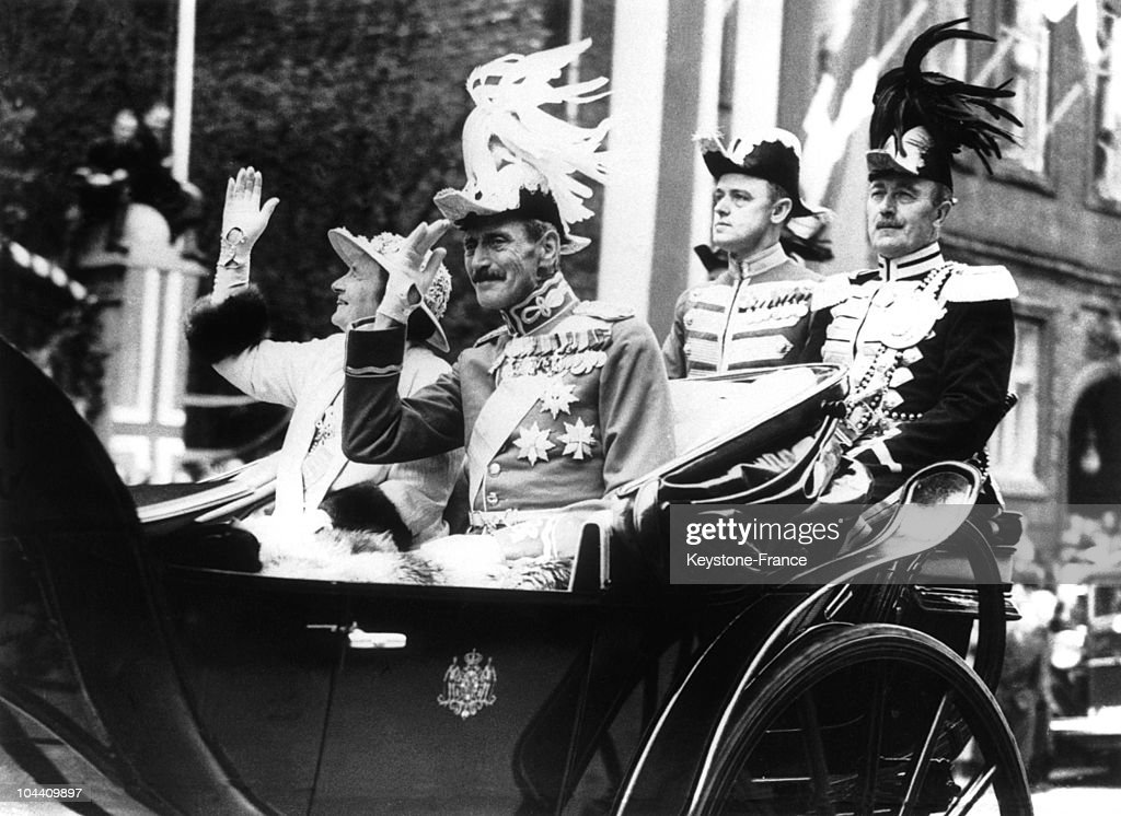 Silver Anniversary Of King Christian X Of Denmark Copenhagen 1937 : News Photo