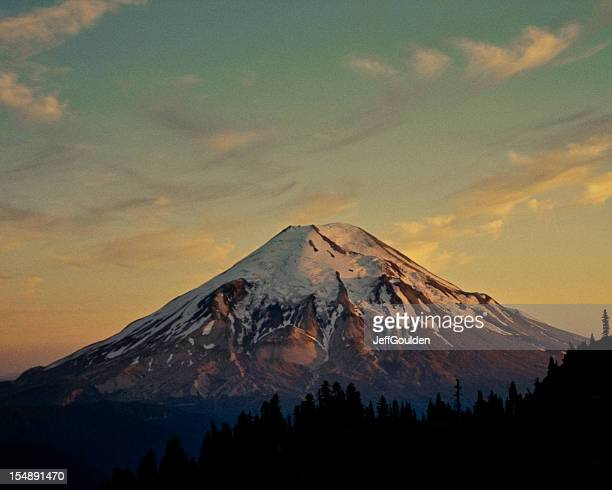 Mount Saint Helens at Sunset Before the Eruption