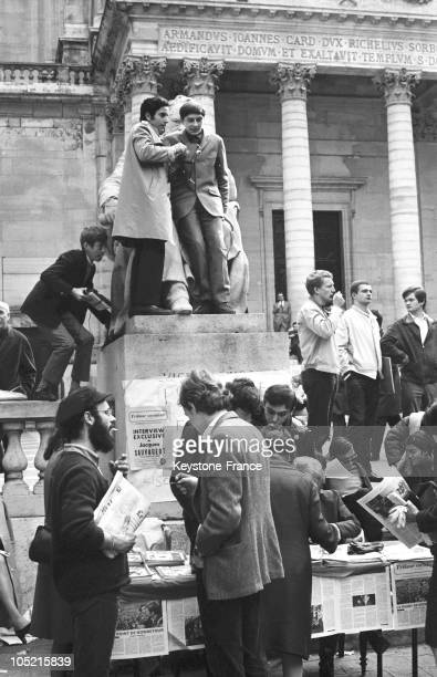 On May 20 Students Occupied The Premises Of The University Of La Sorbonne In Paris Selling Protest Newspapers In The Courtyard