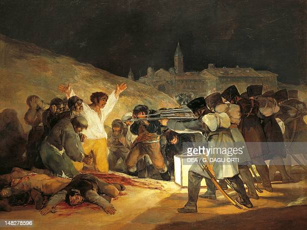 On May 3 1808 in Madrid Shootings on Principe Pio Hill by Francisco de Goya oil on canvas 266x345 cm Madrid Museo Del Prado