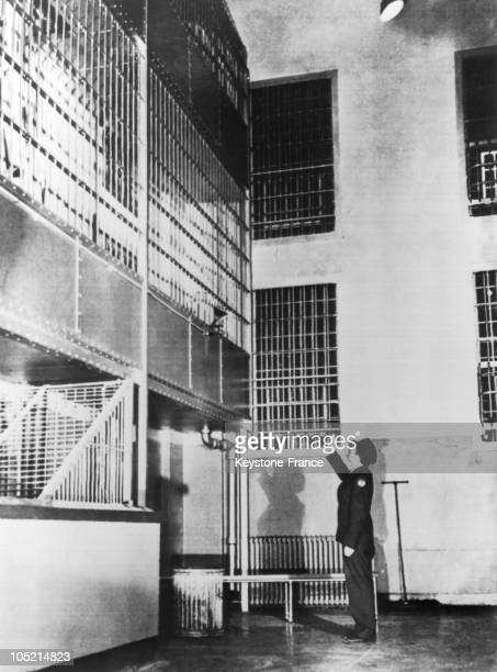 On May 5 While Quietness Was Back In The Alcatrz Prison A Guard Showed The Spot From Where Prisoners Bernard Coy And His Accomplices Marvin Hubbard...