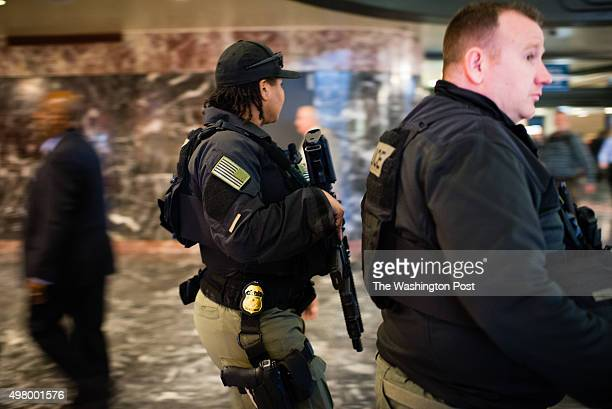 On Monday November 16 2015 Amtrak Special Operations Police patrol Union Station