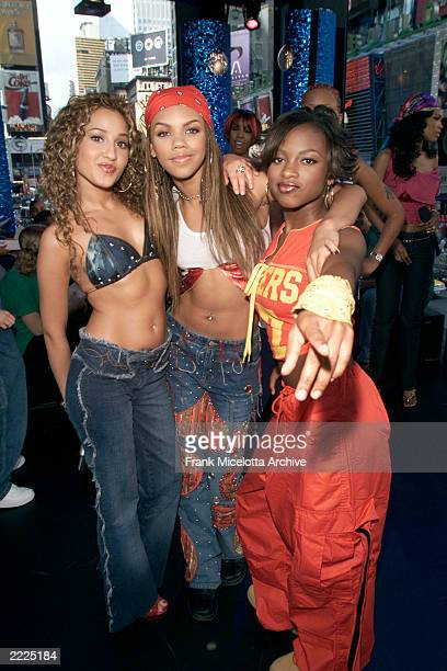 3LW on MTV's TRL in the MTV Times Square studios in New York City to talk about the upcoming TRL Tour which they will headline 7/12/01 Photo by Frank...
