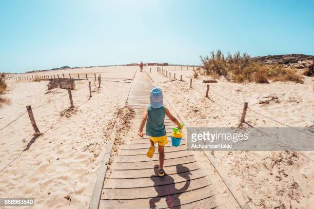 on my way to the beach - boardwalk stock pictures, royalty-free photos & images