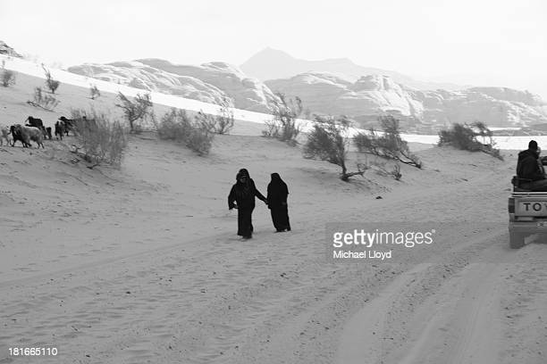 On my way to Wadi Rum, the desert run where Lawrence of Arabia led the Arab Revolt, I spotted these two Bedouin trekking forward. I love the way they...