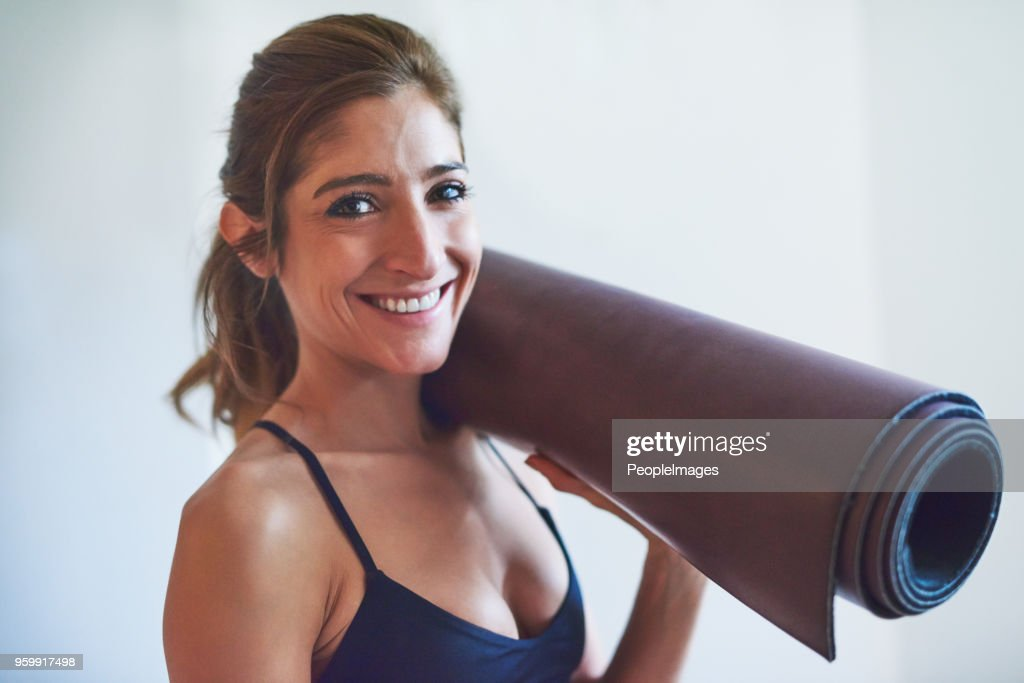 On my way to yoga : Stock Photo