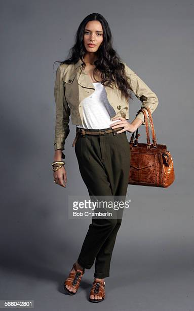 On Nina Joie pants $268 at wwwjoiecom Theory cropped khaki trench $325 at Theory Melrose Ave Banana Republic tank top $2950 at wwwbananarepubliccom...