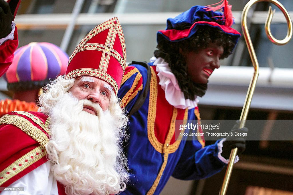 Sinterklaas & Black Pete / Zwarte Piet in Almere : News Photo