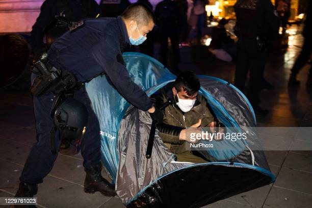 On November 23 with the help of associations and lawyers, the Place de la Republique in Paris was occupied by hundreds of migrants, left homeless by...