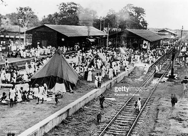 On October 20 1953 refugees arrived in mass to the border city of Bangaon in Western Bengal at the border between India and Pakistan in order to...