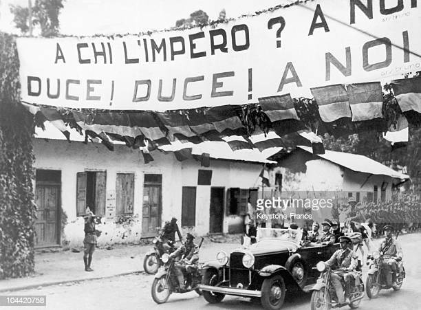 On October 26 After The Capital Of AddisAbeba Had Been Taken Over In March 1936 The Italian Minsiter Of The Colonies Alessandro Lessona Accompanied...