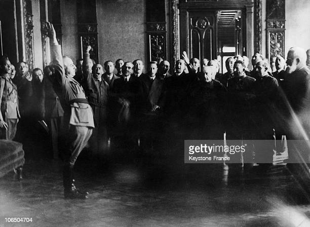 On October 2Nd 1936 General Franco Becoming The Leader Of The Rebel Government After Having Taken The Oath At The Nationalist Headquarter