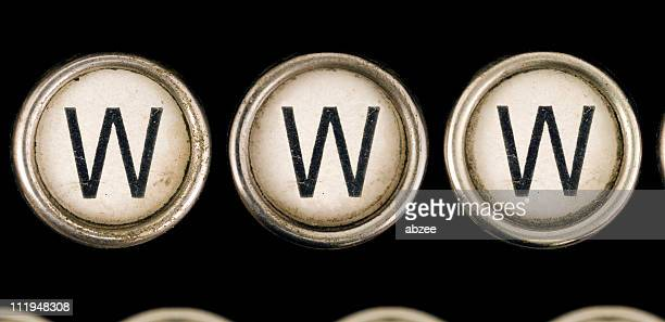 WWW on old typewriter keys