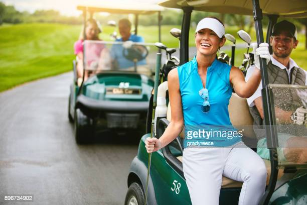 on our way to the next shot - golf stock pictures, royalty-free photos & images