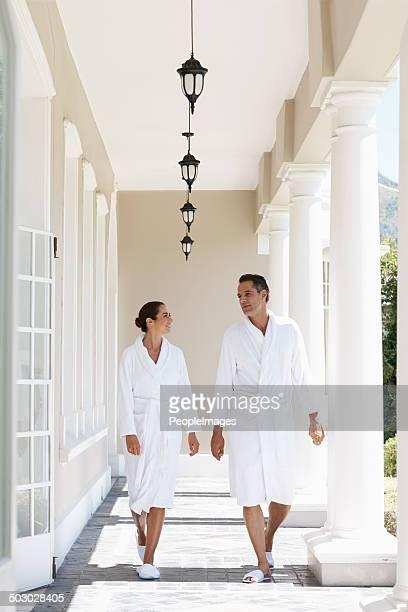 Auf dem Weg zur nächsten spa-Behandlung