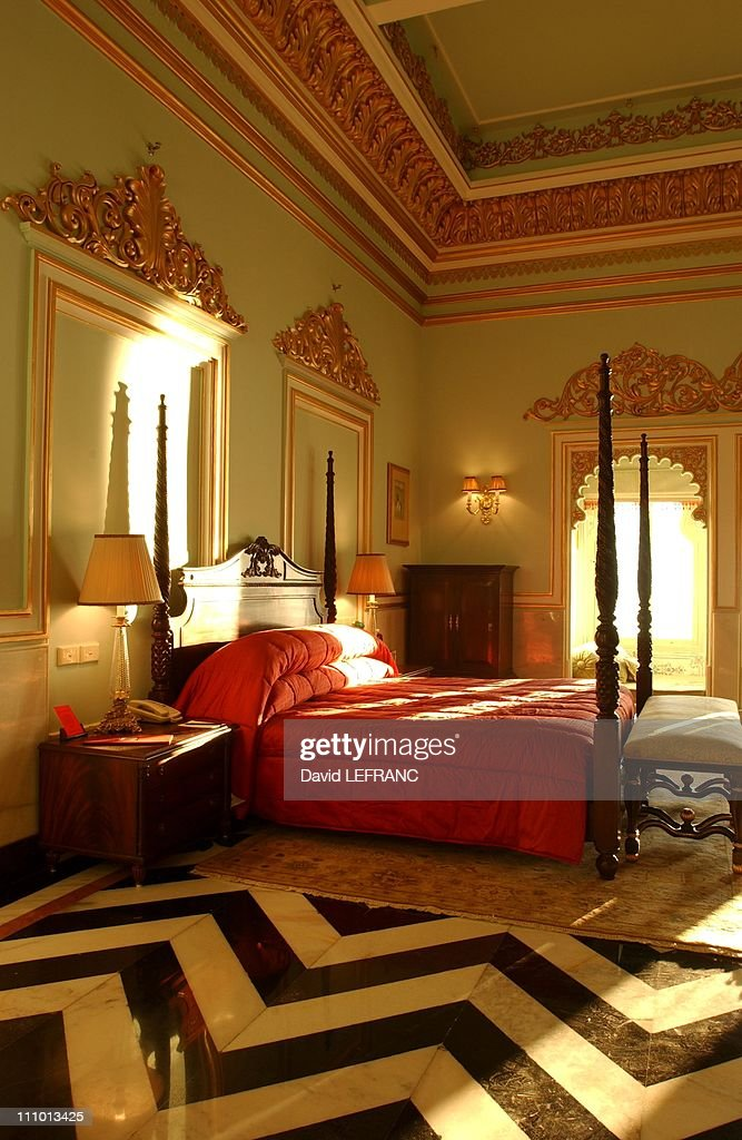On Pichola lake, in the heart of Udaipur, a small island hosts the ancient summer residence of the Maharajahs - The residence was turned into a magical hotel - The marvellous 250-year-old white marble palace has just been renovated in Udaipur, India.