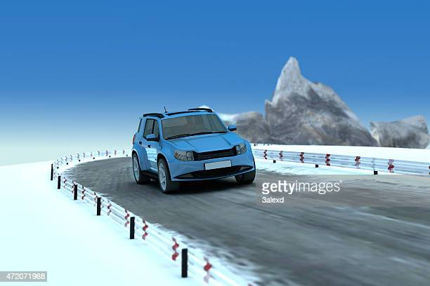 suv on road - generic location stock pictures, royalty-free photos & images