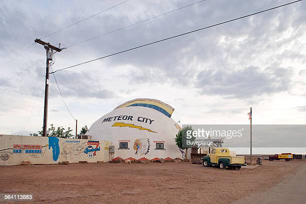 On Route 66worlds longest map of Route 66 Meteor City Arizona