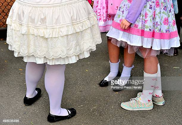 On Saturday August 03 2013 a group of friends dressed in elaborate Japanese street fashions calling themselves Maine Lolitas visited the York Animal...