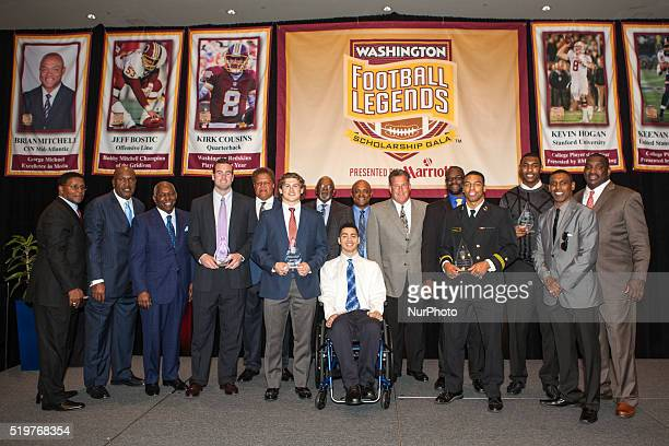 on Saturday March 26 at the Bethesda North Marriott at the eighth annual Washington Football Legends Scholarship Gala from lr Brig Owens James...