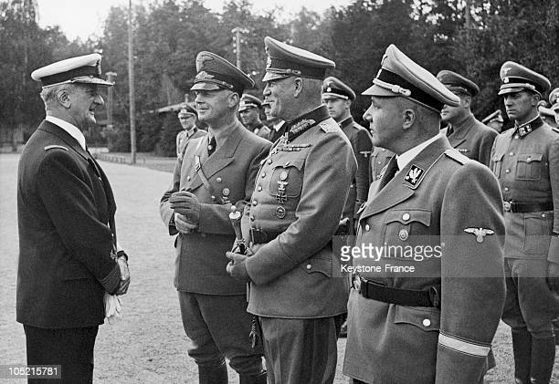 On September 12 Admiral Miklos Horthy To Nagybanya Regent Of Hungary Is Greeted By The Minister Von Ribbentropp Marshal Keitel And The Head Of The...