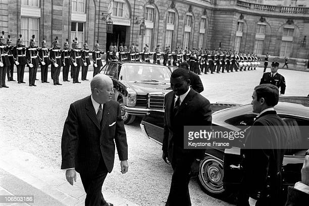 On September 17 Jacques Foccart, Secretary General Of The French Community , Receiving Etienne Eyadema, President Of Togo At The Elysees Palace.