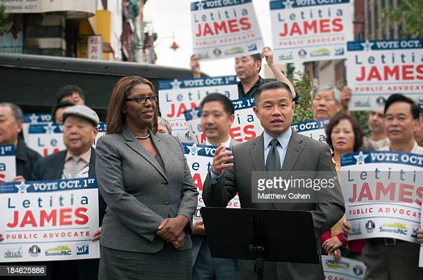 CONTENT] On September 26 New York City Comptroller John Liu endorses Public Advocate Candidate Letitia James James would go on to win the runoff less...