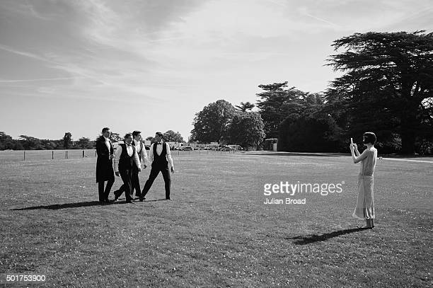 On set during the production of the last series of Downton Abbey photographed for Variety magazine on July 3 2015 in Newbury England
