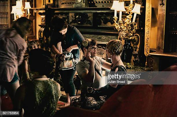 On set during the production of the last series of Downton Abbey photographed for Variety magazine on July 3, 2015 in Newbury, England.