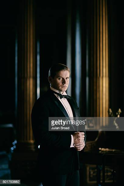 On set during the production of the last series of Downton Abbey with Allen Leech as Tom Branson photographed for Variety magazine on July 3 2015 in...