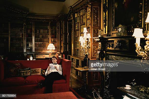 On set during the production of the last series of Downton Abbey with Matthew Goode as Henry Talbot photographed for Variety magazine on July 3, 2015...