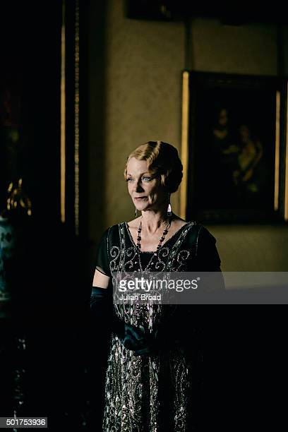On set during the production of the last series of Downton Abbey with Samantha Bond as Lady Rosamund Painswick photographed for Variety magazine on...