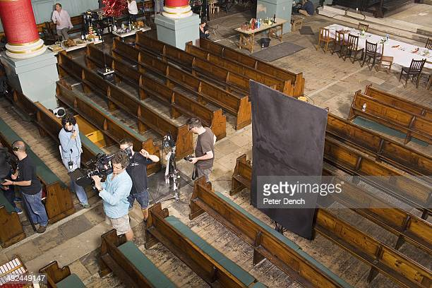 On set of filming Rev 2 Rev is a BBC sitcom about a vicar running a modern innercity church with a reluctant wife and a depleted motley congregation...