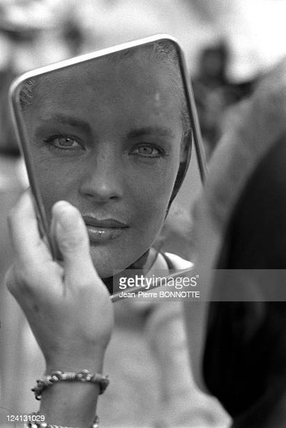 On set of 'La Piscine' directed by Jacques Deray In Saint Tropez France In August 1968 Romy Schneider portrait