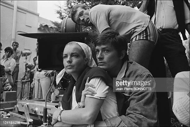 On set of 'La Piscine' directed by Jacques Deray In Saint Tropez France In August 1968 Romy Schneider Alain Delon