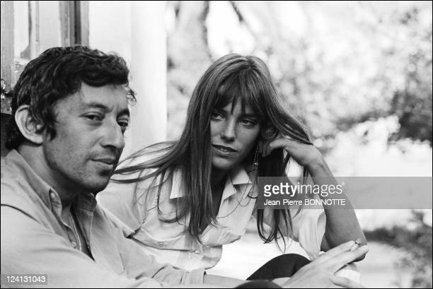 On set of 'La Piscine' directed by Jacques Deray In Saint Tropez France In August 1968 Jane Birkin serge Gainsbourg