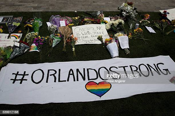 on South Orange Avenue down the street from Pulse Nightclub on June 13 2016 in Orlando Florida The shooting at Pulse Nightclub which killed 50 people...