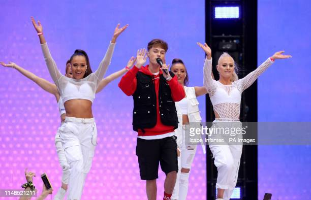 HRVY on stage during Capital's Summertime Ball The world's biggest stars perform live for 80000 Capital listeners at Wembley Stadium at the UK's...