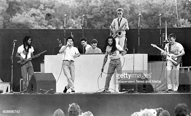 UB40 on stage during the Bob Dylan concert in Slane Castle Co Meath