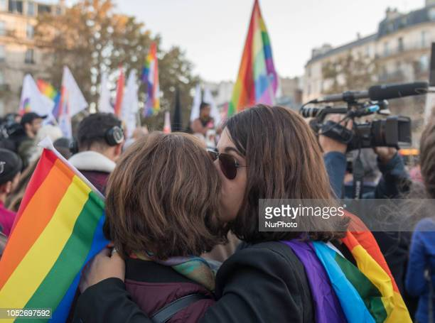 On Sunday 21 October several thousand people gathered at the call of SOS Homophobie and the InterLGBT in Paris to denounce the wave of homophobic...