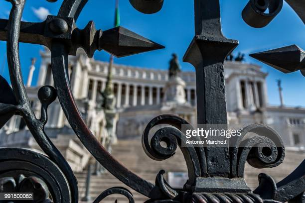 on target ! - altare della patria stock pictures, royalty-free photos & images
