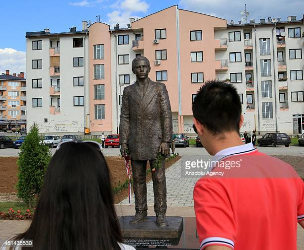 On the 100th anniversary of First World War Sarajevo Serbs erect statue of Serbian nationalist Gavrilo Princip who trigger World War I by...