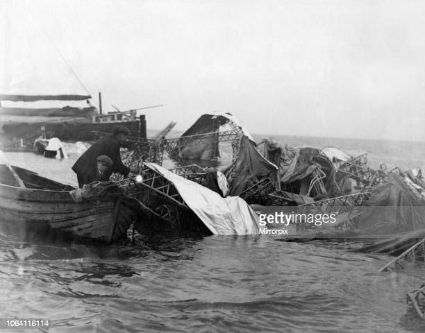 On the 24th August 1921 R38 was destroyed by a structural failure while in flight over the city of Hull It crashed into the Humber Estuary killing 44...